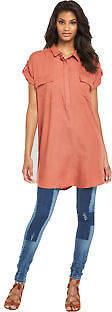 Roman Tunic Shirt Dress in Rust Size XS