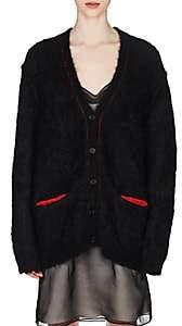 Maison Margiela Women's Contrast-Trimmed Mohair-Blend Cardigan-Black