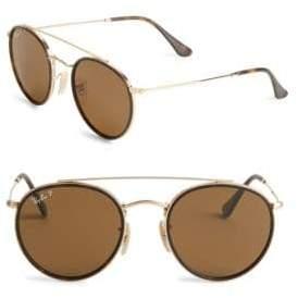 Ray-Ban Aviator Round Metal Frame Sunglasses