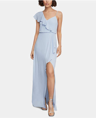 BCBGMAXAZRIA Ruffled One-Shoulder Gown