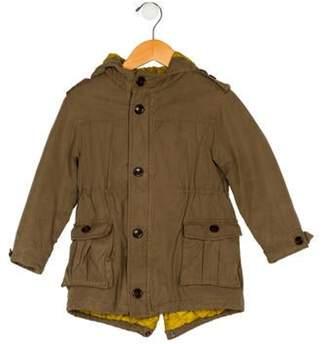 Burberry Boys' Hooded Jacket olive Boys' Hooded Jacket