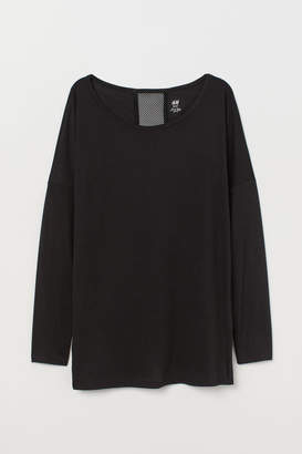 H&M Long-sleeved Yoga Top - Black