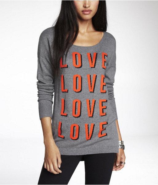 Express Love X 4 Intarsia Sweater