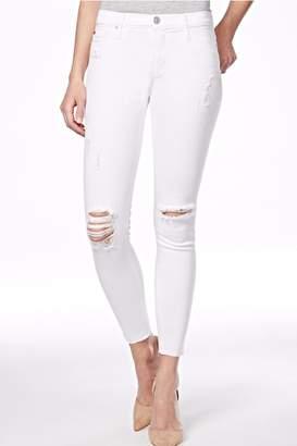 Hudson Nico Mid Rise White Jeans