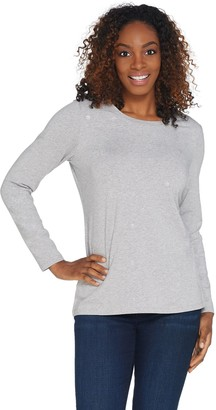 Susan Graver Weekend Embellished Cotton Modal Top
