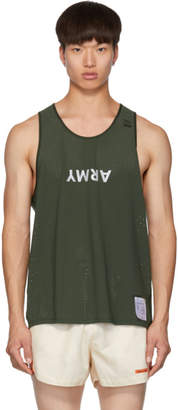 Satisfy Green Army Race Singlet Tank Top