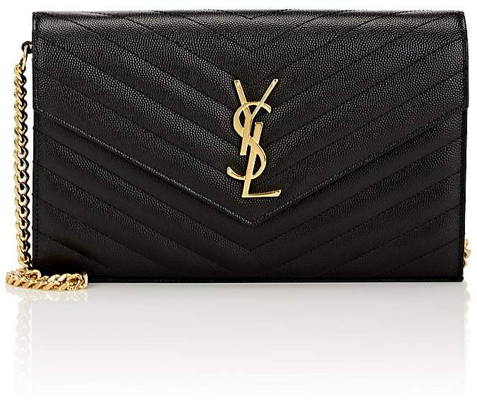 Saint Laurent Women's Monogram Leather Chain Wallet
