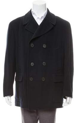 Burberry Cashmere-Blend Double-Breasted Peacoat