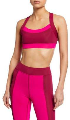Cushnie et Ochs CUSHNIE Colorblock Cross-Back Sports Bra