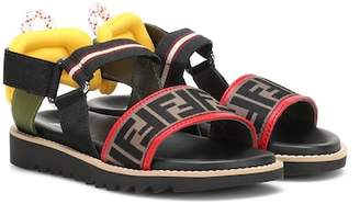 Fendi Canvas and leather sandals