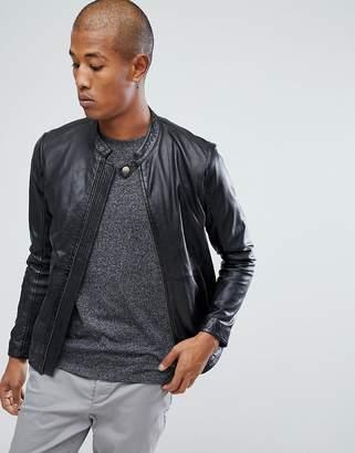 Lindbergh Leather Jacket in Black