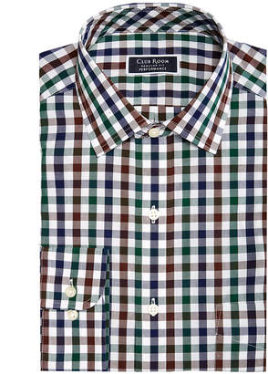 Club Room Men's Classic/Regular Fit Performance Multi Gingham Dress Shirt