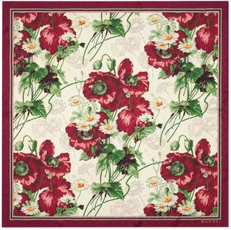 Gucci GG scarf with floral print