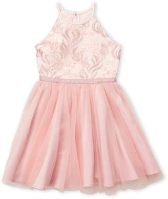 Blush by Us Angels Girls 7-16) Embroidered Mesh Dress