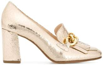 Högl metallic buckled loafers
