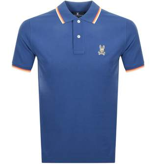 Short Sleeved Polo T Shirt Blue