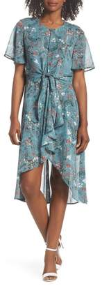 FOREST LILY Knot Waist High/Low Hem Dress