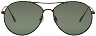 Gentle Monster Black and Green Ranny Ring Aviator Sunglasses
