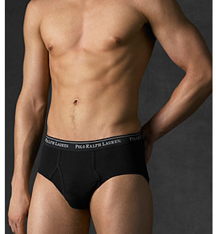Polo Ralph Lauren Men's Black 4-Pack Classic Low Rise Brief