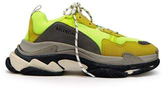 Balenciaga Triple S Low Top Trainers - Mens - Yellow