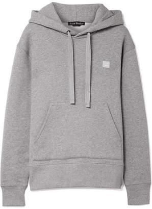 Acne Studios Ferris Face Appliquéd Cotton-jersey Hoodie - Light gray