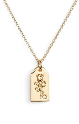 Lulu DK x We Wore What Small Rose Tag Pendant Necklace