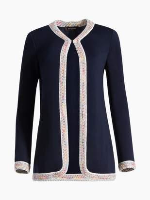 St. John Milano Knit Jewel Neck Jacket
