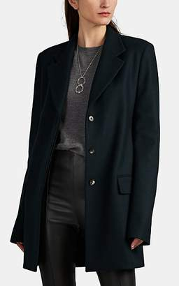 The Row Women's Cennor Wool-Blend Melton Topcoat - Green