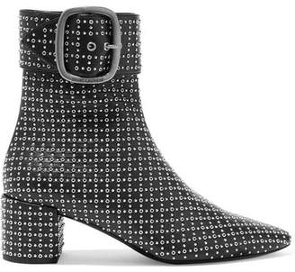 Saint Laurent Joplin Studded Leather Ankle Boots - Black