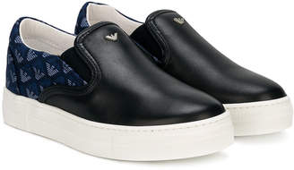 Armani Junior branded slip-on sneakers