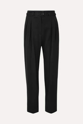 A.P.C. Joan Belted Twill Straight-leg Pants