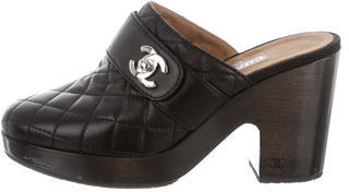 ChanelChanel Quilted CC Mules