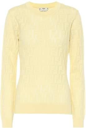 Fendi Cotton-blend knit top