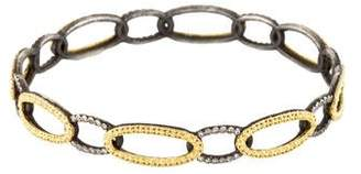 Armenta Two-Tone Diamond Circle Link Bangle