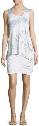 XCVI Trace Ruched Mini Skirt