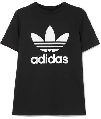 adidas Trefoil Stretch-cotton Jersey T-shirt - Black