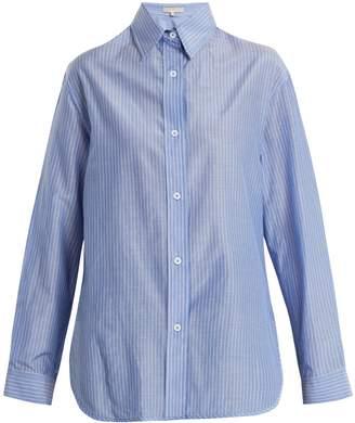 Vanessa Bruno Point-collar striped cotton shirt