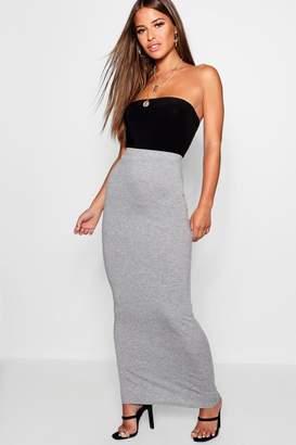 boohoo Petite Jersey Basic Maxi Skirt
