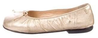 Taryn Rose Metallic Ballet Flats