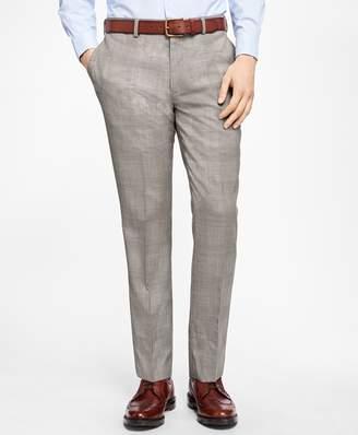 Brooks Brothers Slim-Fit Plaid Stretch-Wool Trousers