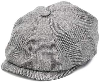 Brunello Cucinelli check flat cap