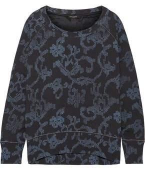 Rag & Bone Max Oversized Printed French Cotton-Terry Sweatshirt