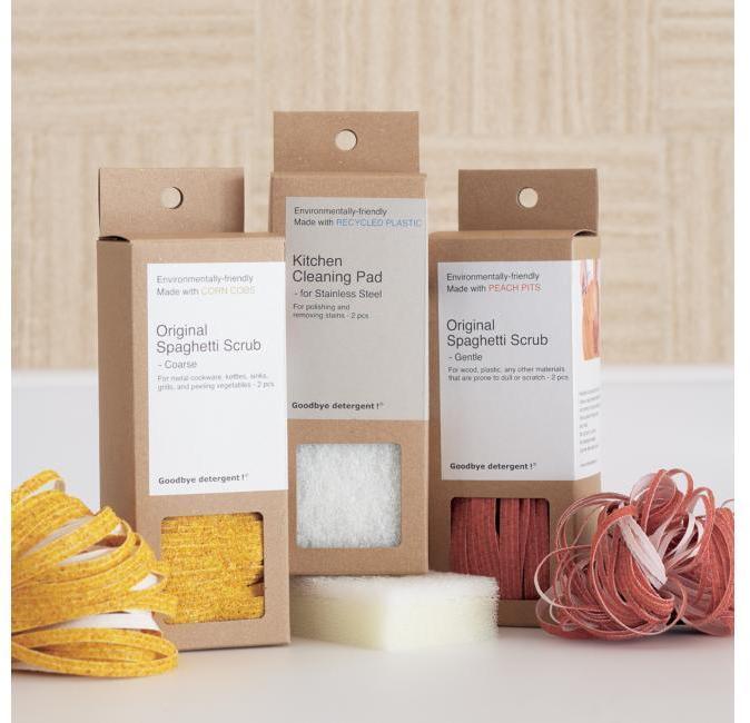 Goodbye detergent! ® Kitchen Cleaning Pad/Original Spaghetti Scrubs