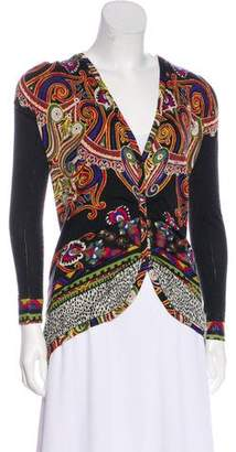 Etro Ruched Knit Cardigan