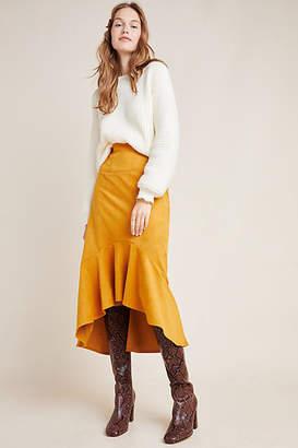 Maeve Cosima Flounced Midi Skirt