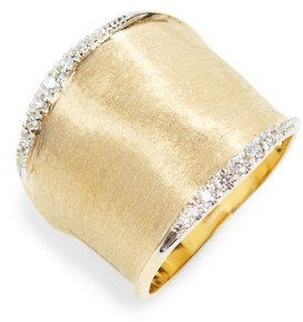 Women's Marco Bicego Lunaria Diamond Band Ring $2,720 thestylecure.com