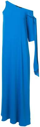 Jay Godfrey asymmetric tie sleeve gown
