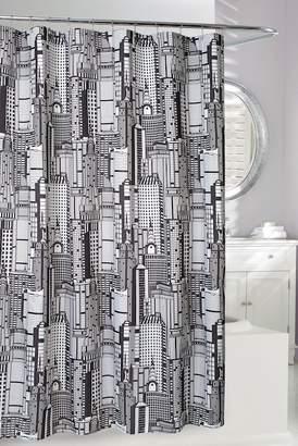 Moda At Home Empire Shower Curtain - Black\u002FWhite