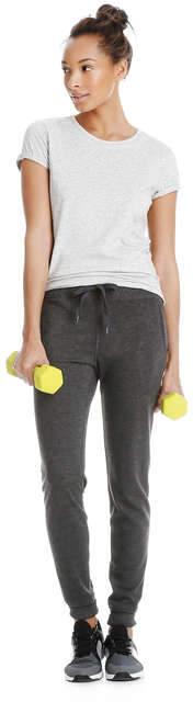 Joe Fresh Women's Slim Fit Active Sweatpant, Charcoal Mix (Size M)