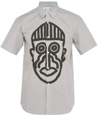 Comme des Garcons Big Mask Checked Cotton Shirt - Mens - Grey Multi